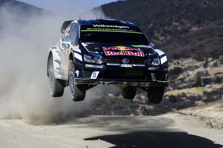 . Leon (Mexico), 04/03/2016.- Sebastien Ogier of France driving his Volkswagen Polo R WRC during day 1 of the Rally Guanajuato Mexico 2016 as part of the World Rally Championship (WRC) in Leon, Mexico, 04 March 2016. (Francia) EFE/EPA/REPORTER IMAGES