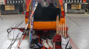 como transporta el material de esquí
