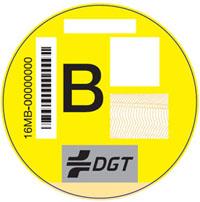 Etiqueta B, coches viejos