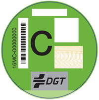 Etiqueta C, coches gasolina (>2006) y coches diésel (>2014)