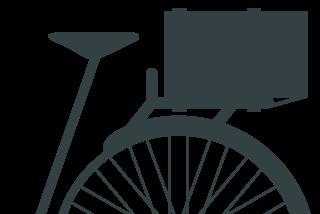 La carga en la bici y amarrada