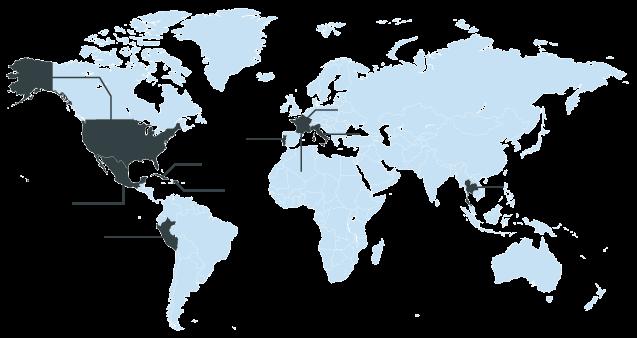 Países cobertura RACE