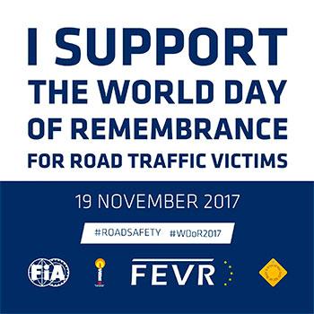 Día mundial recuerdo víctimas de accidentes tráfico