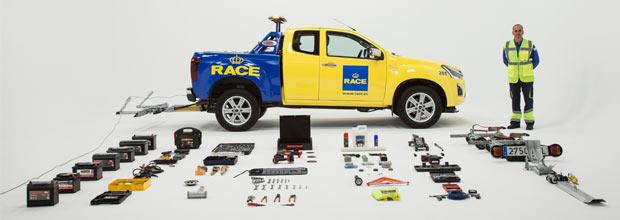 Flota de vehículos del RACE para averías