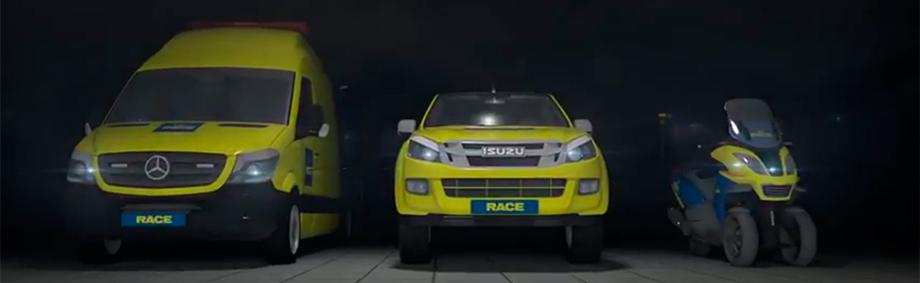 Flota de vehículos de asistencia en carretera del RACE
