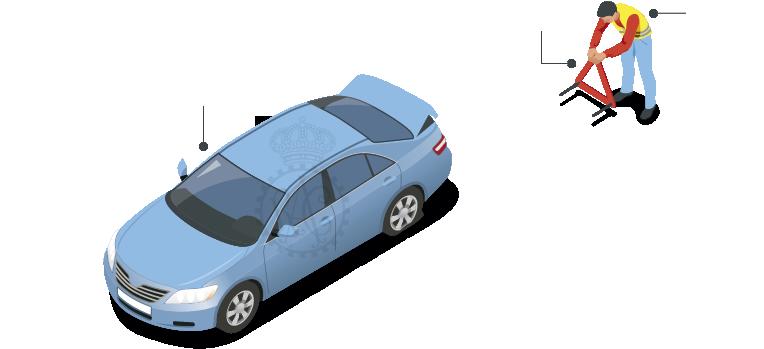Detener el coche en un lugar seguro