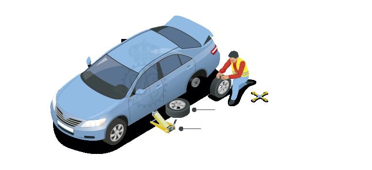 Retira los tornillos y la rueda