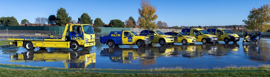 Flota asistencia en carretera del RACE