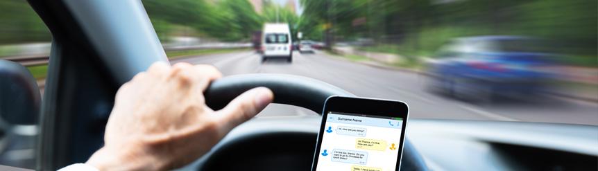 Uso de smartphone en conducción