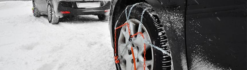 Colocación cadenas de nieve