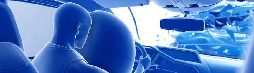 Riesgos airbaig para la visión