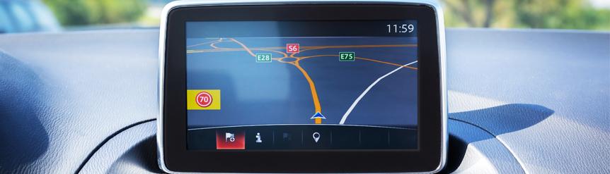 Uso de navegadores en el vehículo