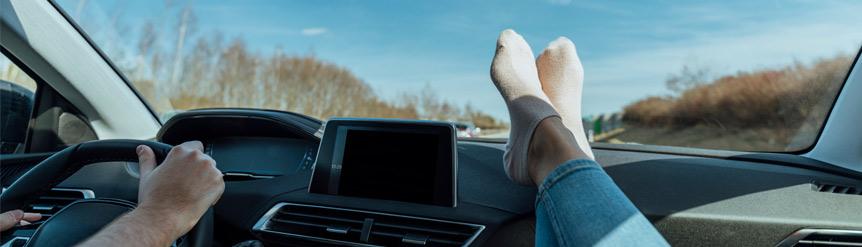 Informe posiciones incorrectas dentro del coche
