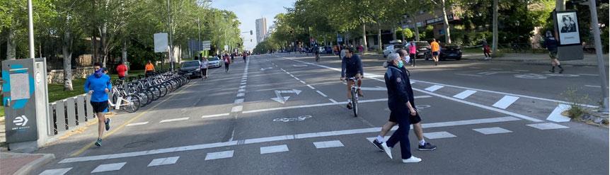 Convivencia conductores, peatones, ciclistas COVID19