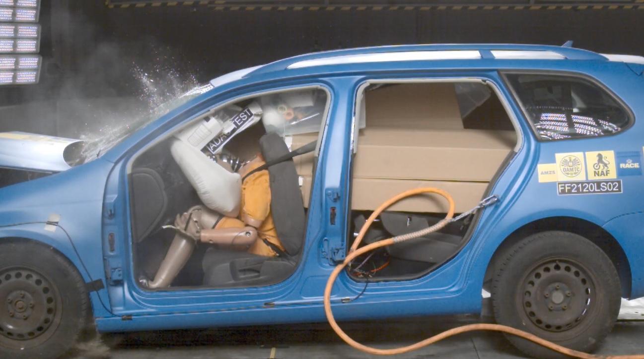 Carga mal colocada en coche