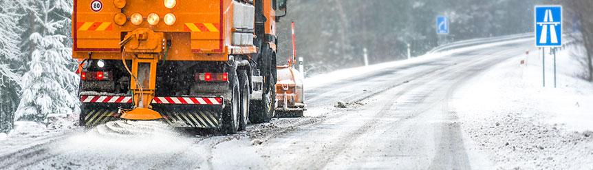 Sal en carreteras por nieve