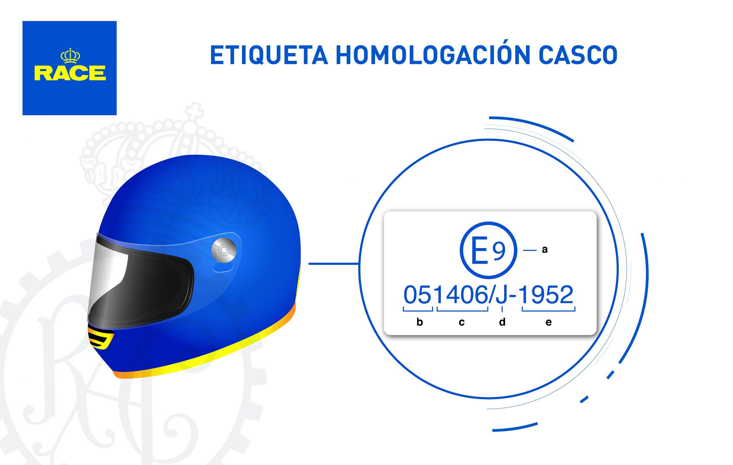 Etiqueta homologación cascos