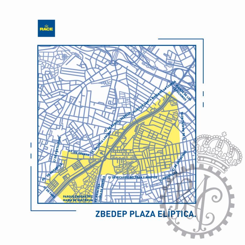 Mapa plaza Elíptica