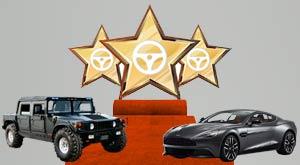 Listado los coches de los famosos
