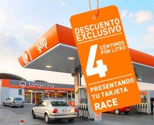 Descuento en carburante Galp 4 cent