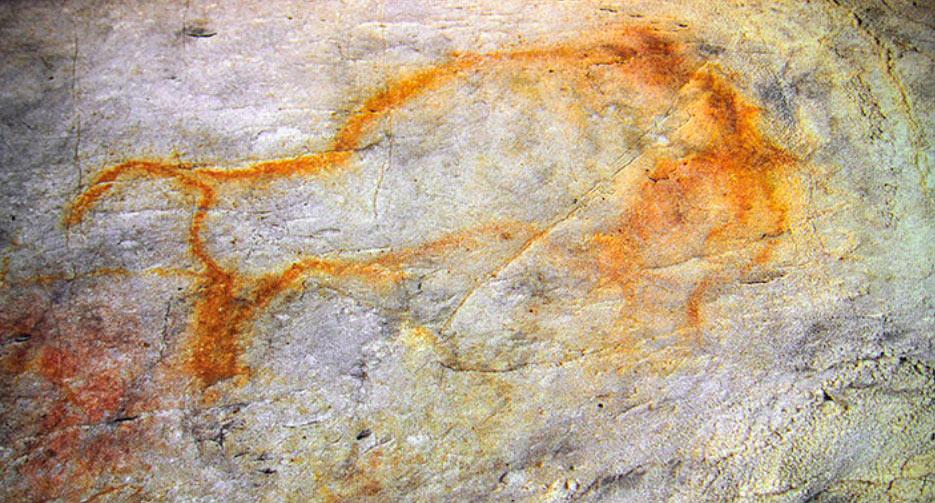 Dibujo animal en Cueva del Castillo